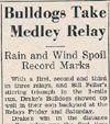 Drake Times-Delphic, 1937, Bulldogs Take Medley Relay
