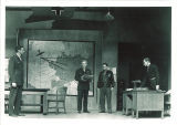 Actors onstage in Haines' Command decision, The University of Iowa, November 1949