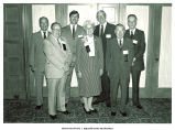 Mary Louise Smith in group of Distinguished Alumni awardees at the University of Iowa, Iowa City, Iowa, June 2, 1984