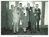 Mary Louise Smith in group of Distinguished Alumni awardees at the University of Iowa, Iowa City, Iowa, June 2, 1984