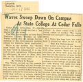 Waves swoop down on campus at state college at Cedar Falls
