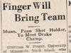 Drake Times-Delphic, 1932, Finger Will Bring Team