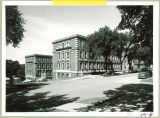Street view of the Chemistry-Botany Building from the southeast corner, The University of Iowa, August 1956