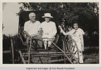 George and Viola Burden in buggy