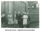Girls at Red Dawn collective farm, Irkustk region, Siberia, 1944