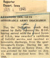 Keystone dog gets honorable army discharge