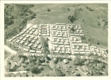 Aerial view of married housing barracks, the University of Iowa, 1948