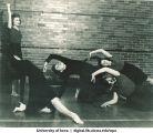 Dance students practicing, The University of Iowa, 1940s