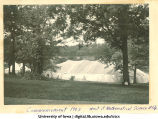 Commencement tent west of Mathematical Science building, The University of Iowa, 1902