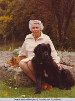 Elizabeth Burden with dogs