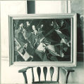 Abstract painting of musicians and conductor, The University of Iowa, 1947