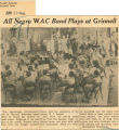 All Negro WAC band plays at Grinnell