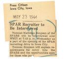 SPAR recruiter to be interviewed