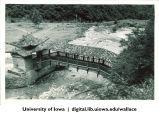 Temple bridge near Xinglong Mountain, 1944