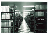 Bookstacks in Main Library, the University of Iowa, April 1970
