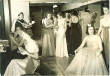 Women dressing for Ball in Iowa Memorial Union, the University of Iowa, 1930s