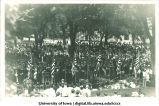Commencement on Pentacrest, The University of Iowa, 1920s