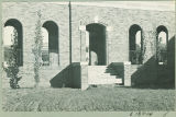 Stairs to the exterior Art Building passageway, the University of Iowa, 1930s?