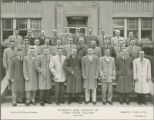 Students and faculty visiting Eli Lilly and Company, 1957