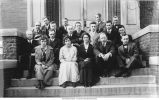 Geology Club on the steps of Old Science Hall, The University of Iowa, May 24, 1916