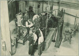 Students in mechanical engineering shop, The University of Iowa, 1920s