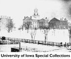 Pentacrest in winter, The University of Iowa, 1869