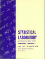 Statistical Laboratory Annual Report, July 1, 1971 to June 30, 1972