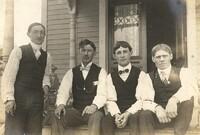 Four Men On Porch