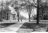 Central walk on Pentacrest, The University of Iowa, November 17, 1927