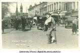 Engineers' parade on Clinton Street, The University of Iowa, 1917