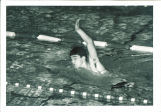 Student swimming at  meet, The University of Iowa high school, March  1967