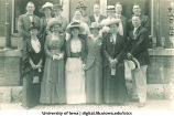 Alumni from class of 1899 posing for reunion, The University of Iowa, 1910s