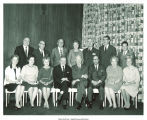Pres. Dwight Eisenhower, front center, and Mary Louise Smith, front row right, with group, Washington, D.C., between 1964 and 1966
