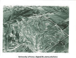 Aerial view of new golf course, The University of Iowa, November 1954