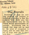 Dog recruits