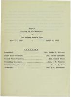 0116 Des Moines Women's Club Minutes 1933-1934