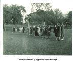 Rolling a ball, The University of Iowa, 1937