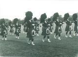 Scottish Highlanders practicing, The University of Iowa, 1960s?