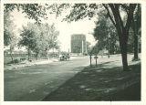 Street view of Hydraulics Laboratory, the University of Iowa, circa 1933