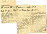 Woman who pushed trucks out of War 1 mud to toughen WAAC