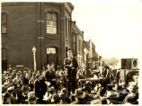 Henry A. Wallace giving speech, Sibley, Iowa, 1940s