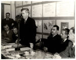 Henry A. Wallace speaking into microphone, Mexico, 1943