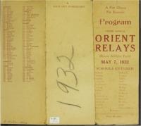 Orient, Iowa Relays -1932