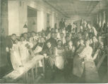 College of Dentistry laboratory clinic junior class, The University of Iowa, 1911