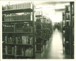 Special Collections stacks in the Main Library, the University of Iowa, April 18, 1966