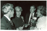 Pat and Bill Smith speaking with Mary Louise Smith at Midwest Republican Conference, Indianapolis, Indiana, 1971