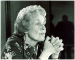 Mary Louise Smith with clasped hands, Washington, D.C., 1970s