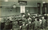 Professor lecturing about rocks, The University of Iowa, 1920s