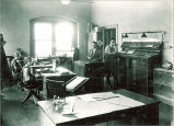 School of Journalism office in Close Hall, The University of Iowa, 1920s