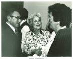 Henry Kissinger, Mary Louise Smith, and Corinne Hubbell at GOP fundraiser and dinner, Ames, Iowa, May 21, 1979